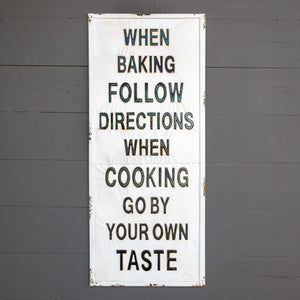 Baking Metal Cooking Sign