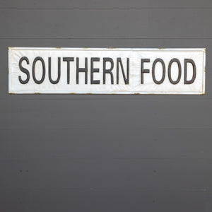 Metal Southern Food Sign