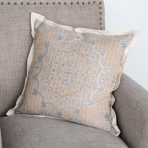 Danish Blue Edge Hill Down Pillow