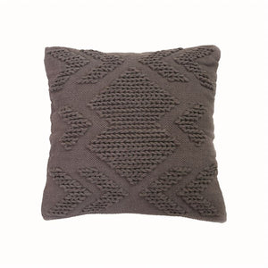 Set of 2 Hand Woven Nia Gray Pillow
