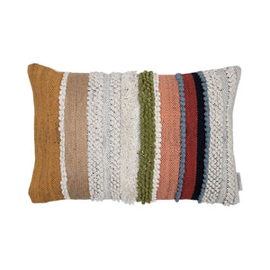 Set of 2 Hand Woven Multi-Colored Pillow