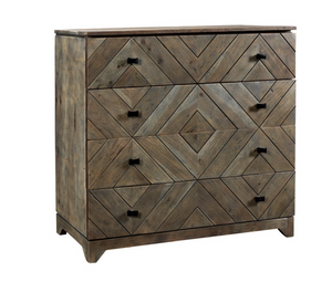 Diamond Pattern 4 Drawer Chest