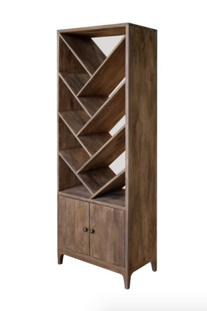Wood Angled 2 Door Etagere