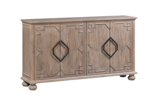 4 Door Raised Molding Sideboard
