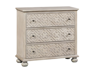 Hawthorne 3 Drawer Fretwork Pattern Chest