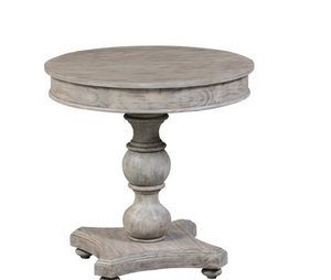 Round Turned Post Accent Table
