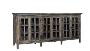 Large 6 Door Window Pane Sideboard