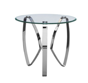 Hollywood Nickel Tri Leg End Table