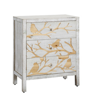 Morning Dove 3 Drawer Bird Design Chest