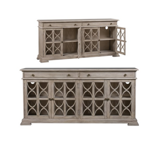 2 Drawer 4 Door Fretwork Sideboard