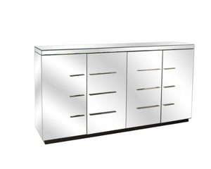 4 Door Beveled Mirror Sideboard
