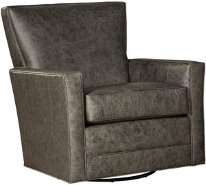 Watson Leather Swivel Glider Chair