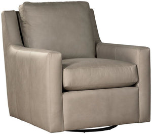 Vaden Leather Swivel Glider