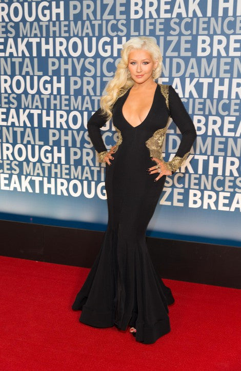 Christina Aguilera attends the breakthrough prize ceremony in Stello
