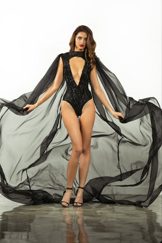 Yule bodysuit/cape - Stello - Gowns - Designer - Dress - Wedding dress - Stephanie Costello - Michael Costello -