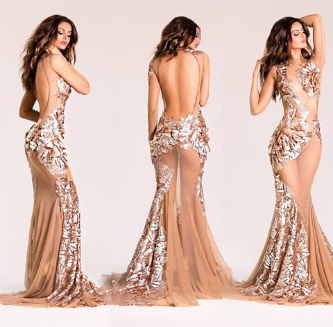 3D gown - Stello - Michael Costello - Stephanie Costello
