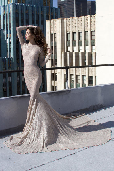 Long Sleeve Victorian Lace - Stello - Gowns - Designer - Dress - Wedding dress - Stephanie Costello - Michael Costello -