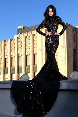 Black Widow - Stello - Gowns - Designer - Dress - Wedding dress - Stephanie Costello - Michael Costello -