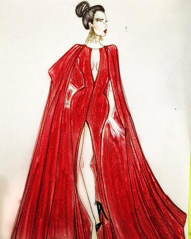 Custom Cape gown