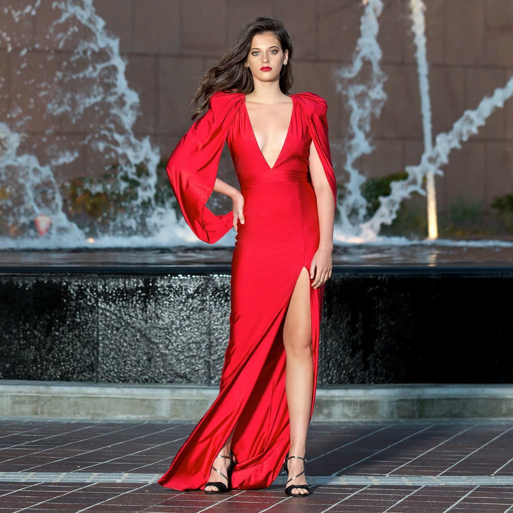 "Red ""Jasper"" - Stello - Gowns - Designer - Dress - Wedding dress - Stephanie Costello - Michael Costello -"