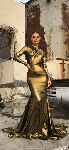 Limited Edition Gold Farah - Stello - Gowns - Designer - Dress - Wedding dress - Stephanie Costello - Michael Costello -