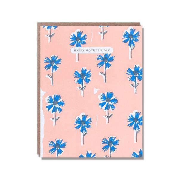 Floral flower mothers day card