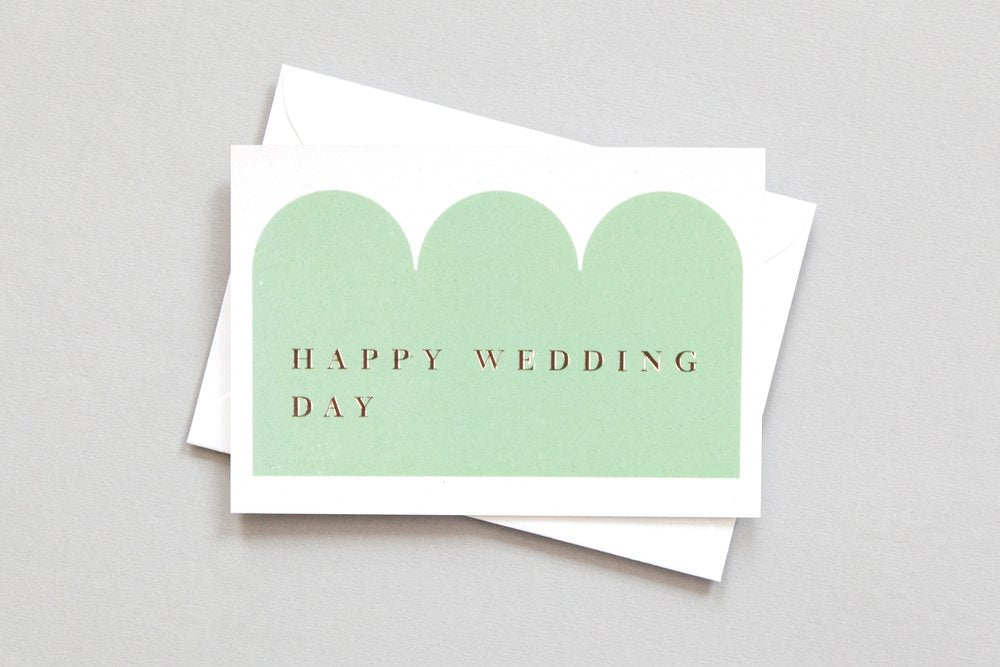 happy wedding day congratulations card charity donation sustainable eco
