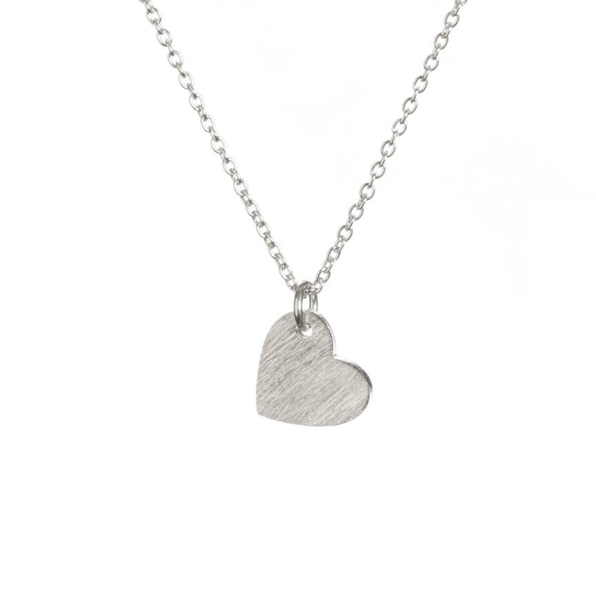 love heart pendant necklace silver like Tiffany