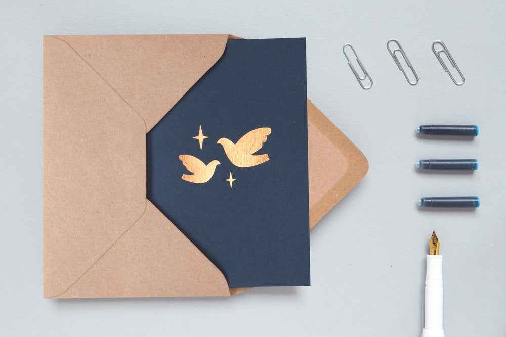 pack of doves cards minimalist sustainable