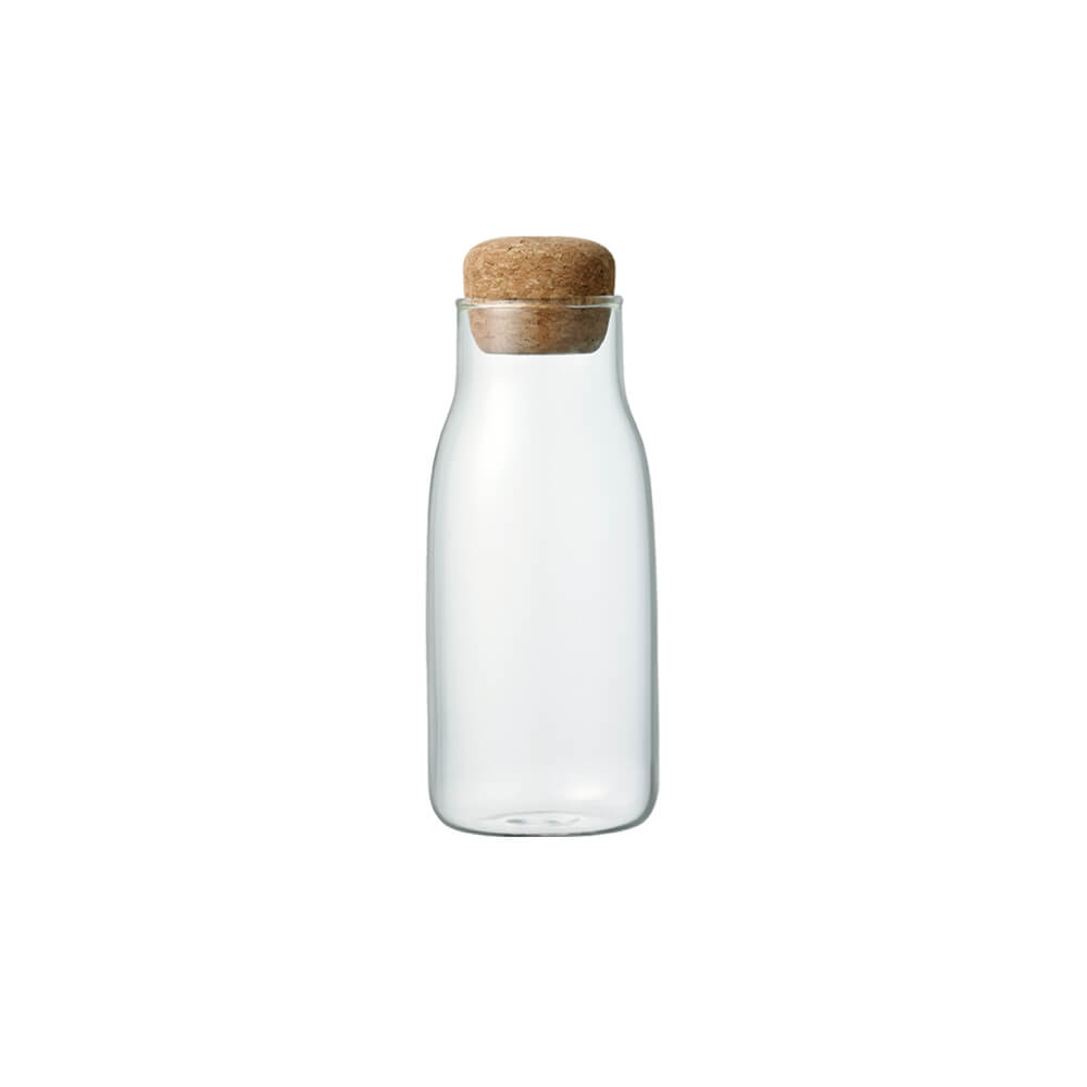 kinto japanese design glass jar with cork lid eco sustainable reusable