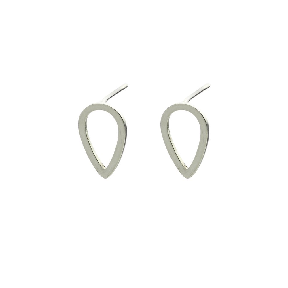 teardrop stud earrings silver