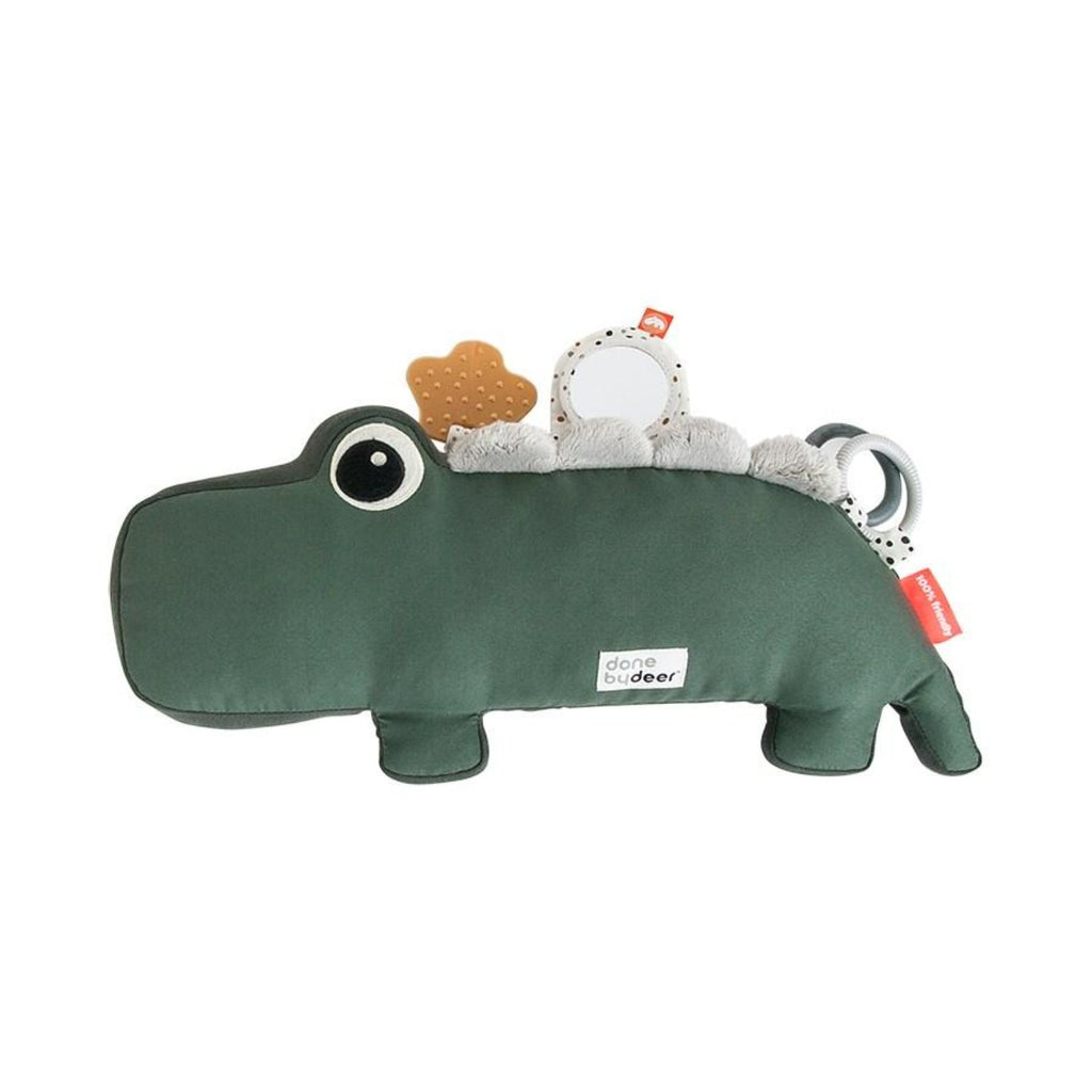 Done by Deer Tummy Time Activity Pillow Croc in Green