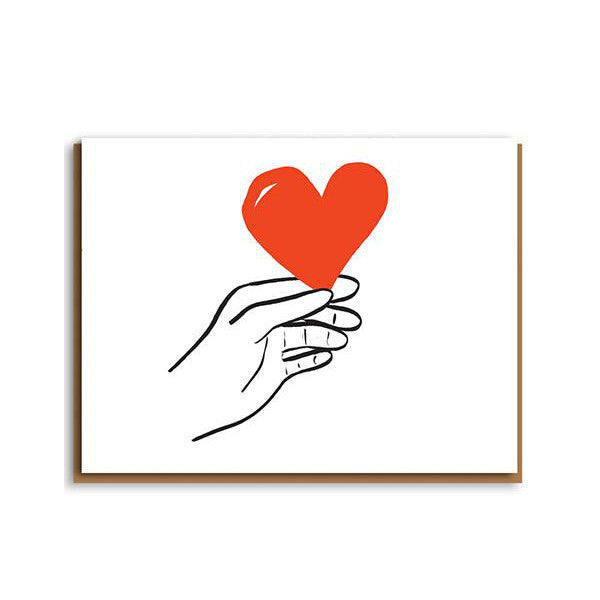Hand with Heart Valentines Card
