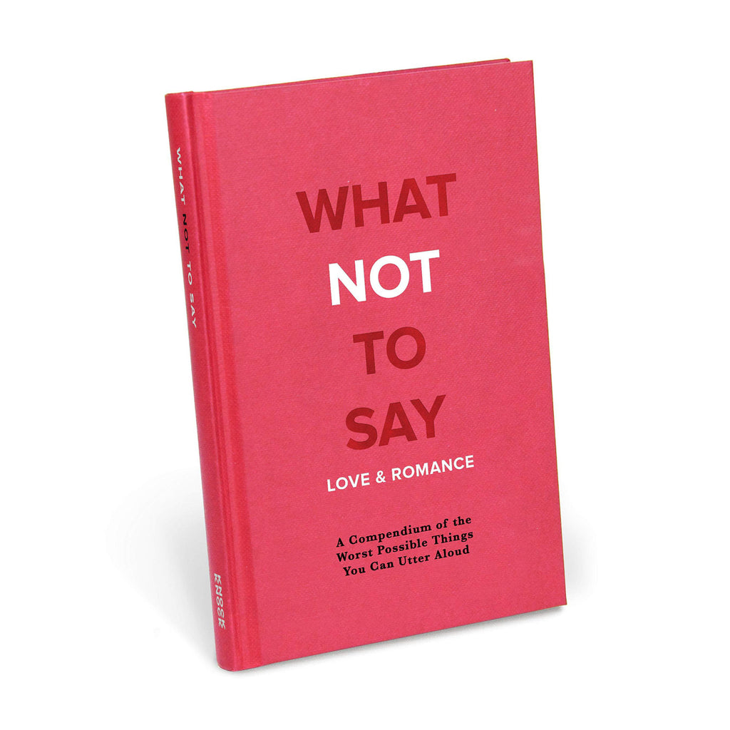 what not to say book love and romance