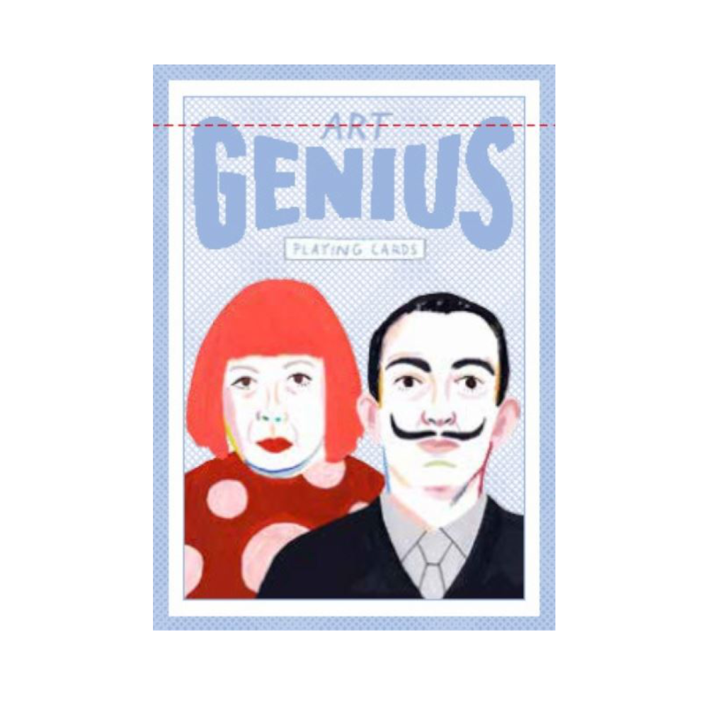 Art genius playing cards culture game for artists or art lovers