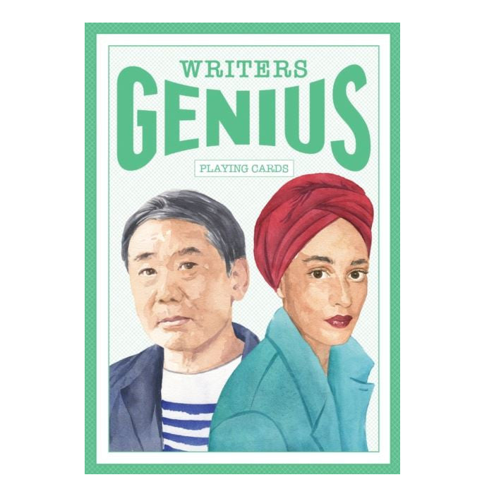 Writers Genius Playing Cards authors gift for book lovers