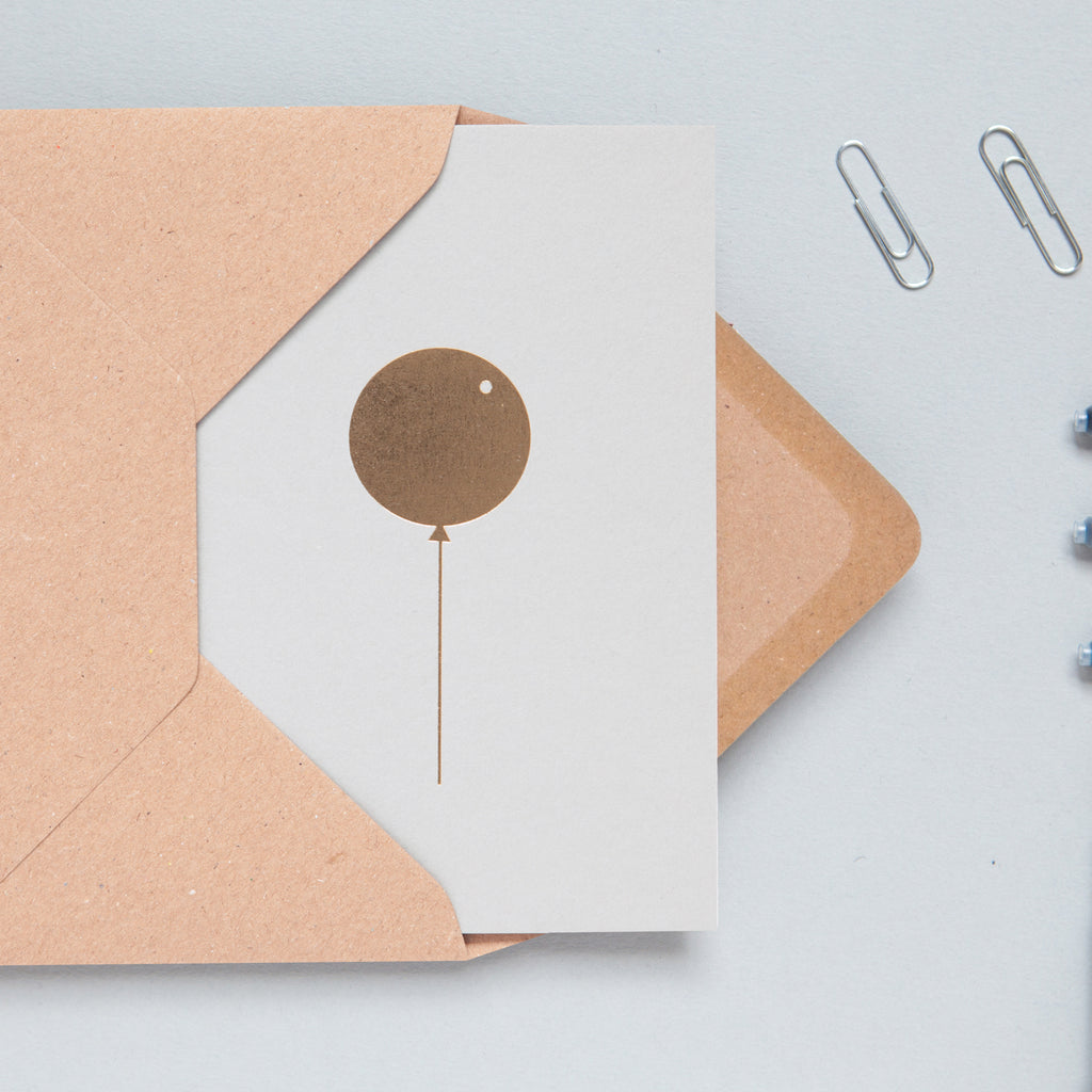 ola biodegradable minimalist birthday balloon card eco sustainable