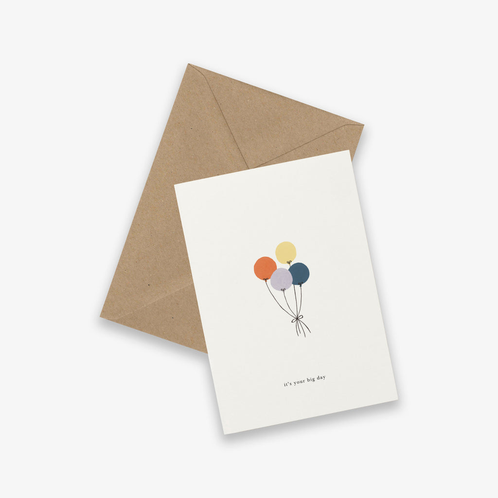 It's Your Big Day Balloons Birthday Card