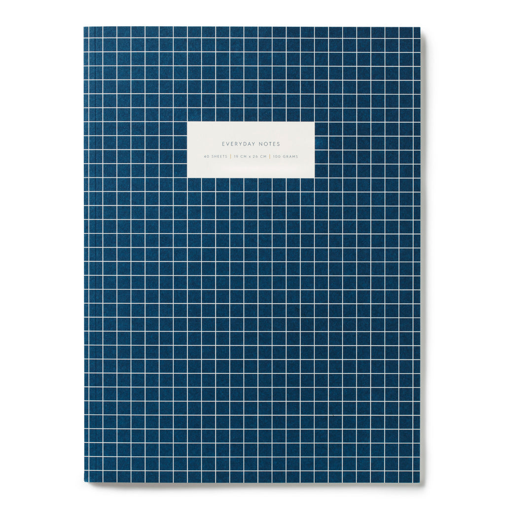 Navy ruled notebook