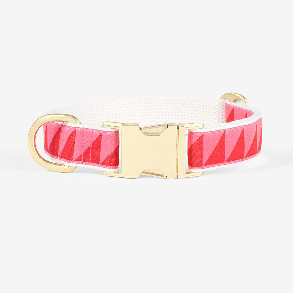 adjustable designer dog collar pink