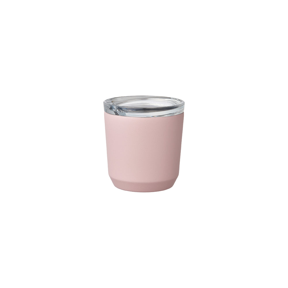 Kinto japanese design insulated mug for office tea coffee pink