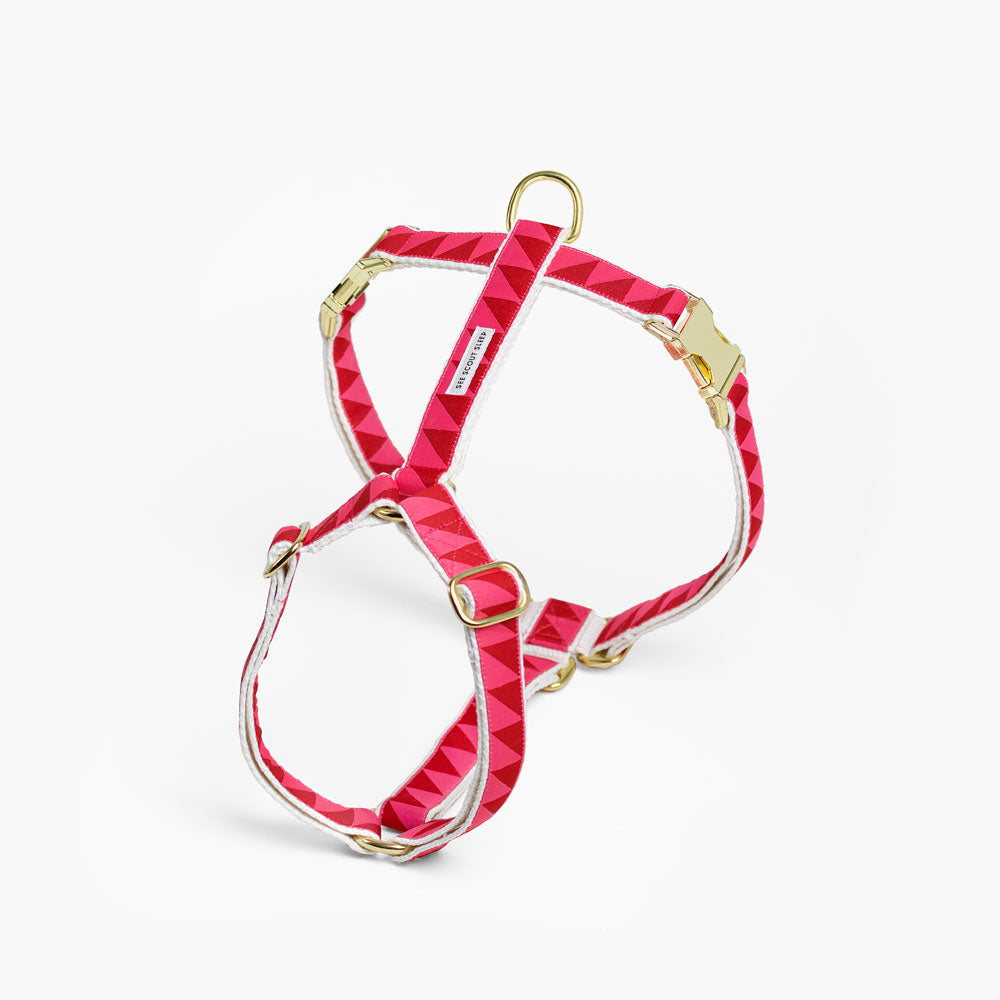 designer dog harness pink adjustable