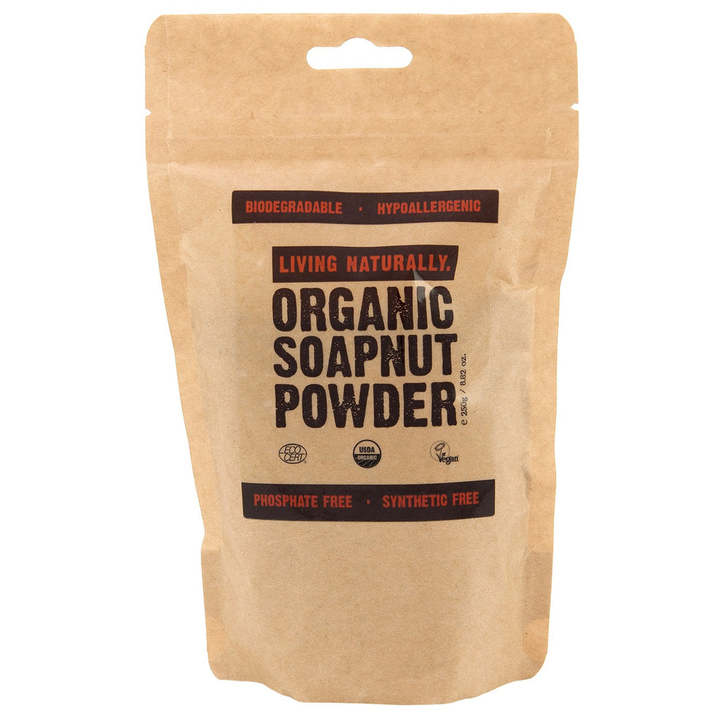 Organic soapnut powder washing machine laundry hand wash natural eco sustainable green cleaning
