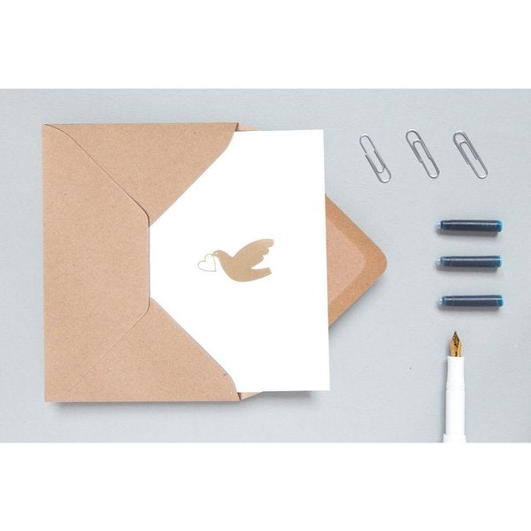 love dove minimalist design card biodegradable cellophane sustainable eco