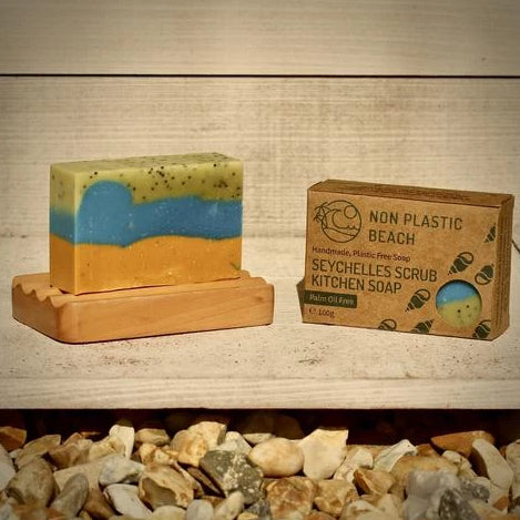 plastic free palm free natural kitchen soap cardboard packaging