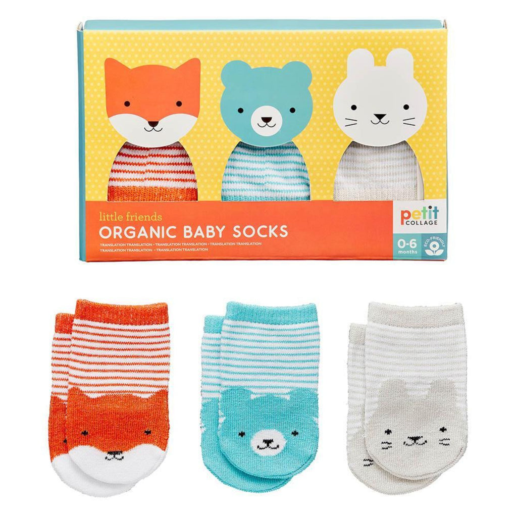 Petit Collage Organic Baby Socks 3 Pairs