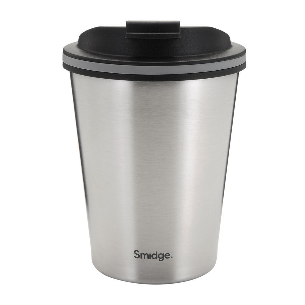 Smidge insulated travel cup mug tea coffee leakproof clip sustainable reusable