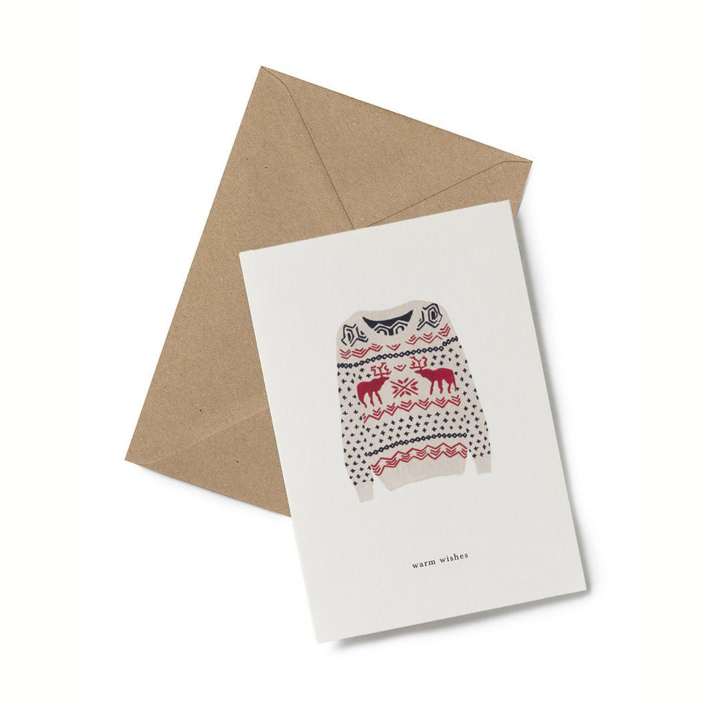 Warm Wishes Christmas Jumper Card