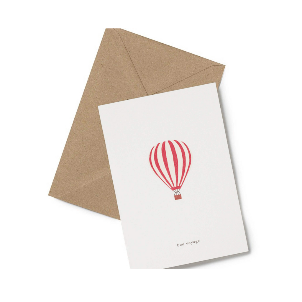 Bon Voyage good luck minimalist card