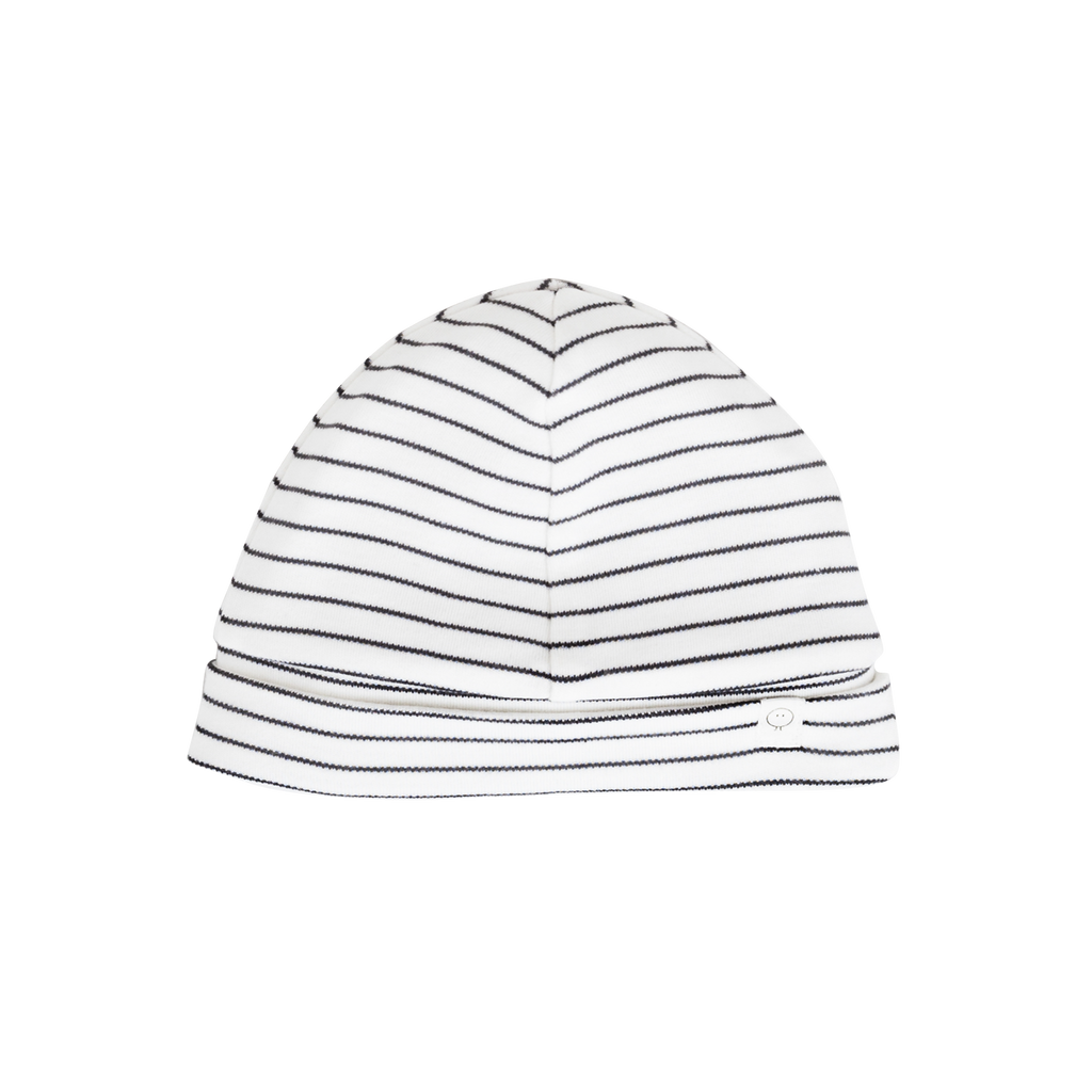 Mori Bamboo and Organic Cotton baby hat - grey stripe